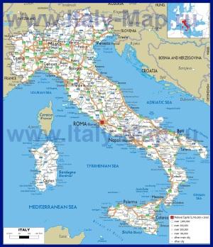 Карта дорог Италии
