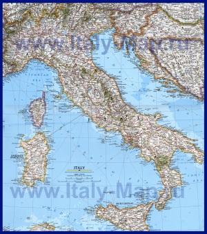 Подробная карта Италии